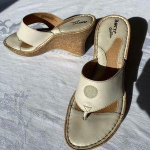 "Born Drillers 6 sandals heels 3 1/2"""